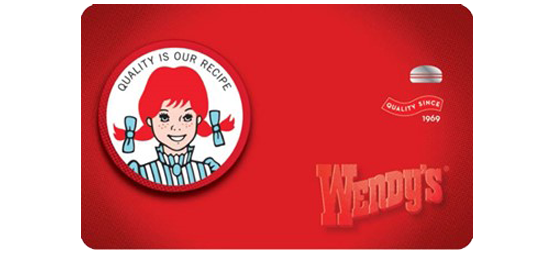 013.- Wendys Gift Card